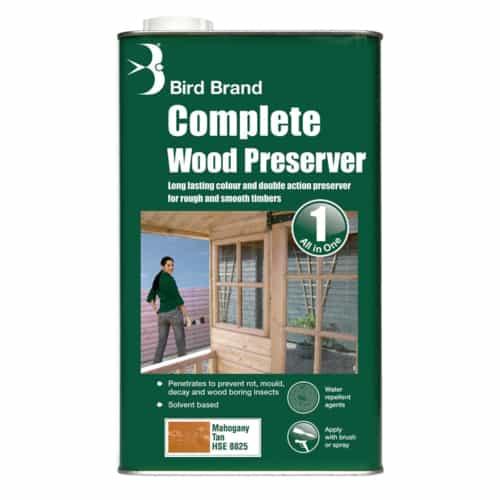 Complete Wood Preserver Mahogany Tan