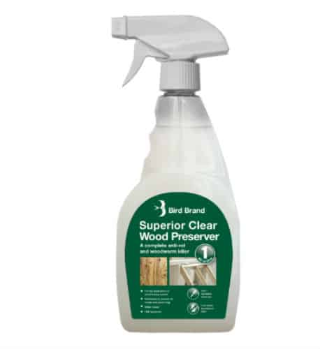 Superior Clear Wood Preserver, Anti-rot and Woodworm Killer
